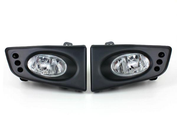 Car Fog Lights for HONDA JAZZ/FIT 2008~2009(AISA TYPE) Clear Halogen Bulb Front Fog Lights Bumper Lamps Kit