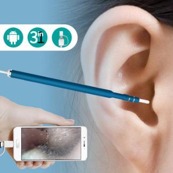 2018 Son HD Görüş Kulak Temizleme Aracı Mini Kamera Otoskop Kulak Bakımı USB Kulak Temiz Endoskop Android Ücretsiz Nakliye için