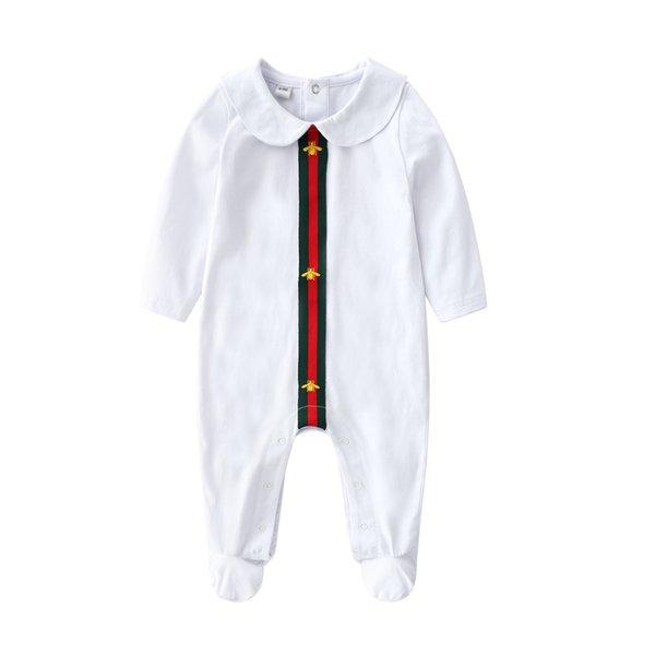 Automne bébé fille Designer barboteuse coton combinaison Jumpsuit enfants Cartoon Stripe Onesie nouveau-né Stripe manches longues enfant Body Vêtements Y444