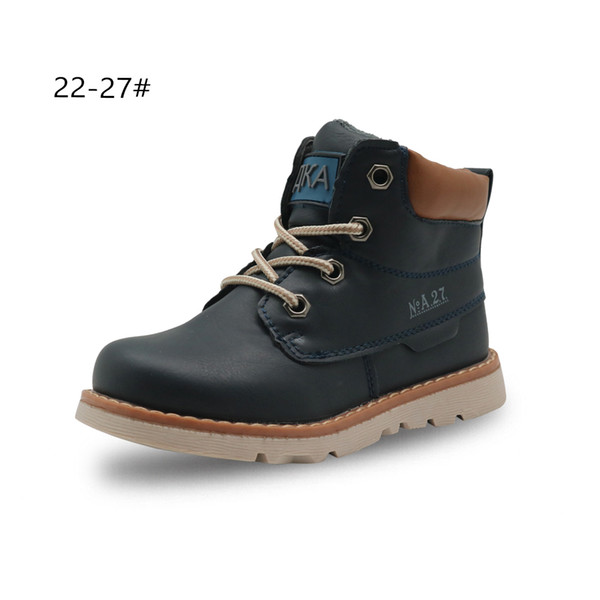 cbccb3b7d18 Apakowa Boys Classic Martin Boots Toddler Kids Lace Up Motorcycle Ankle  Boots Children'S Autumn Spring Shoes With Arch Support Girls Dress Boots ...