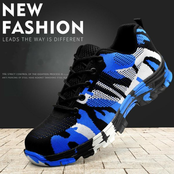 2018 New smash and piercing safety protective shoes men shoes