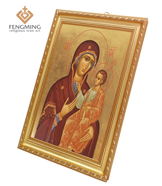 Orthodox Church Supplies Wall Decoration Religious Items Pictures Iver icon of the Mother of God In Plastic Frame Byzantine Arts