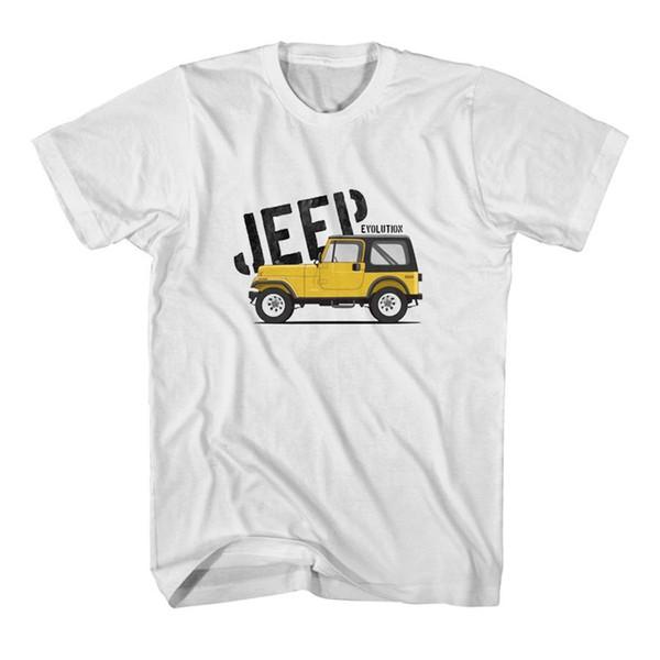 Evolution du t-shirt Jeep 4x4 Utility Vehicle pour hommes