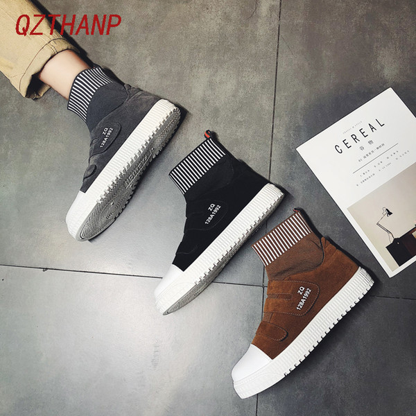 Mens Casual Shoes Hot Sale Scarpe Uomo Krasovki High-top Sneakers Short Plush Trainers Tenis Masculino Adulto Zapatos De Hombre