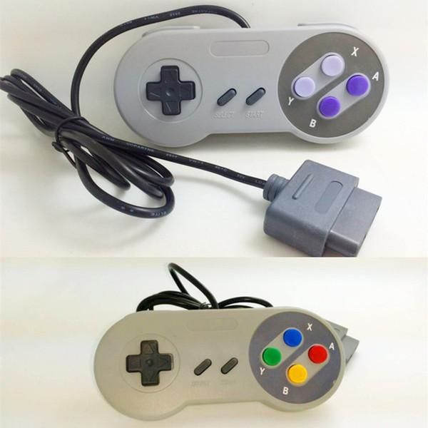 10 tasti di gioco Gaming 16 bit Controller Gamepad Pad Joystick per SFC Super Nintendo SNES System Console Control Pad spedizione veloce
