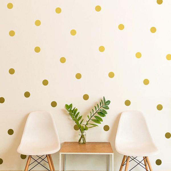 Polka Dots etiqueta de la pared Nursery Kids Rooms niños tatuajes de pared refrigerador decoración del hogar DIY arte decoración de la pared Multi Colors tamaño
