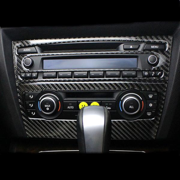 Per BMW E90 E92 E93 Interni Trim Fibra di carbonio Aria condizionata  Pannello di controllo CD decorazione Cover Car styling 3 serie Accessori  auto a06d9d9fac2c