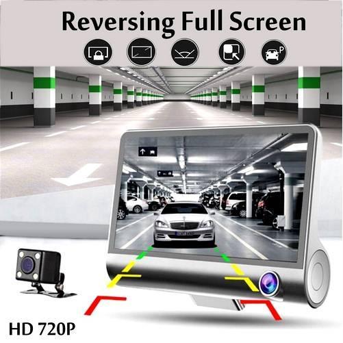 4.0 Inch Mini Dvr Dash Camera For Car Video Cam Auto 3 Camara Lens With Rear View car dash camera Camera Video Recorder Mirror HD Car dvr