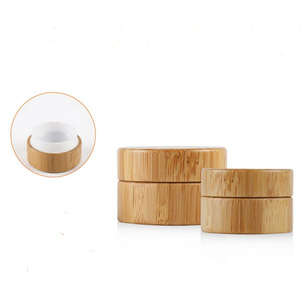 5g High Qualtiy PP Jar with Bamboo Outer Empty Cream Jars Cosmetic Packaging Containers Pot With Lid for Personal Care cream Container