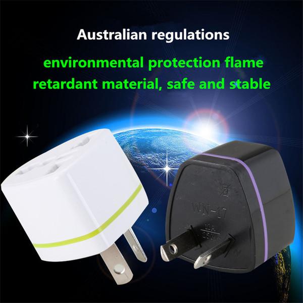 Material de protección del medio ambiente de cobre puro cáscara del convertidor estándar australiano Adaptador de enchufe estándar AUS Enchufe de alimentación 10pcs / box