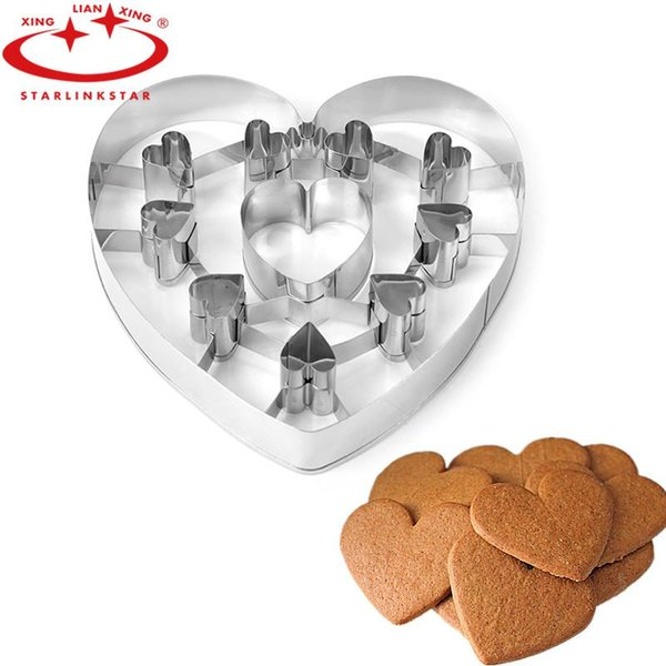 1PC 3D Heart Cookie Cutter Tools Stainless Steel Cupcake Cookie Mold Stencils Pastry Biscuit Cutter Bakeware For Kitchen