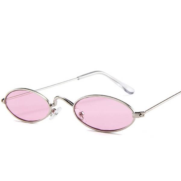 Großhandel 90er Jahre Ovale Sonnenbrille Kleine Runde Für Frauen Mode Getönt Rot Männer Brille Damen Vintage Brille Gelb Brillen Von Ontheotherside,