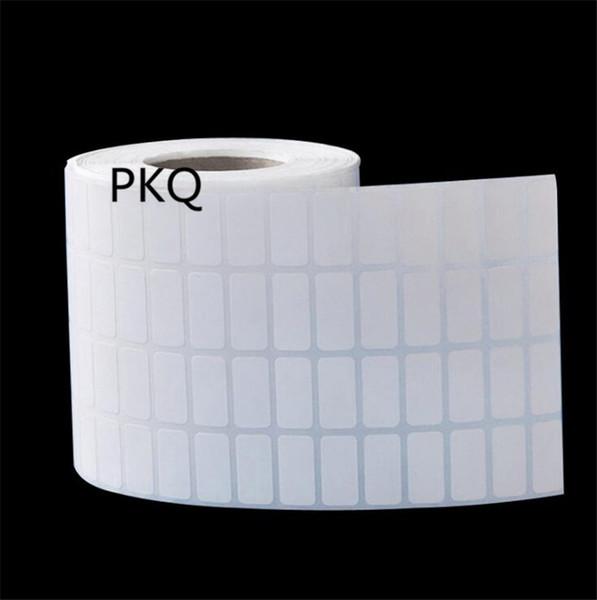 20x10mm/25x10mm Thermal transfer printing Coated Art Paper sticker print /plastic PVC Vinyl paper white adhesive label sticker