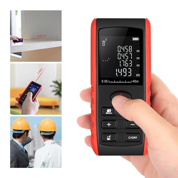 Digital Laser rangefinder 40m laser Distance Meter Handheld Range Finder Area Volume Measurement Angle Indication Laser Distance Meter
