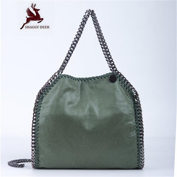 2018 SHAGGY DEER Factory Outlet 34 COLORS Luxury PVC 3 Chain Crossbody Shoulder Bag Falabellas 25cm High Quality Handbag