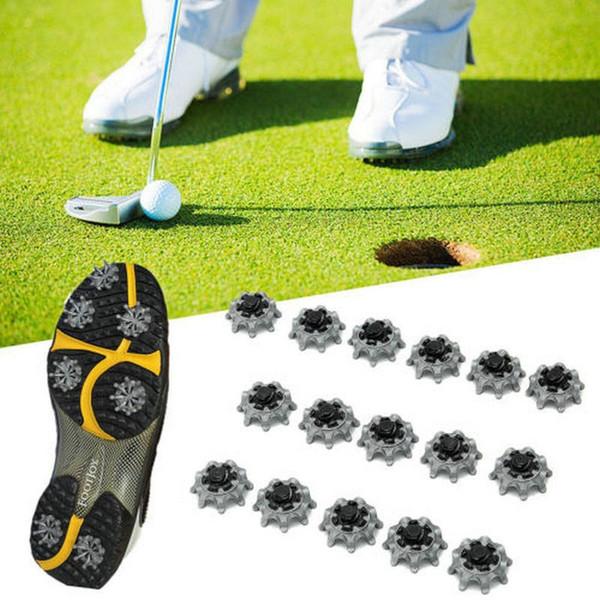 Zapatos de golf Pin Fácil Reemplazo Thintech Spikes Zapatos de golf Diseño atractivo Plata Gris Negro Clavo giratorio GGA285 300PCS