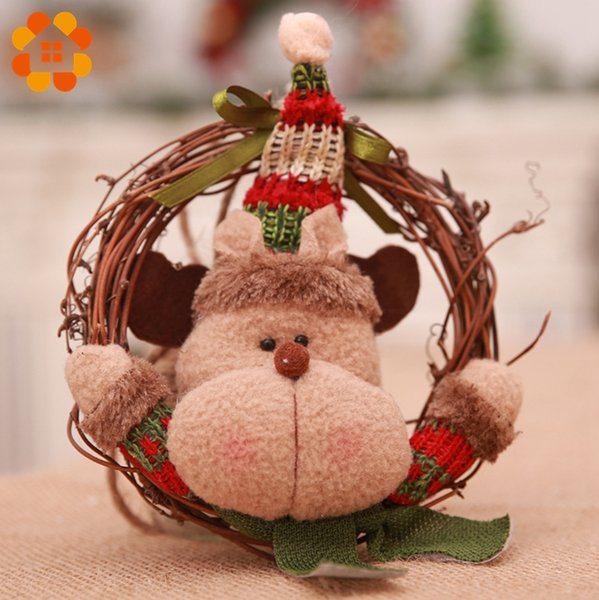 Wood Christmas Decorations.Diy Creative Wooden Christmas Garland Rattan Circle Pendants Decoration Wood Crafts Christmas Ornaments Home Decor Supplies D18110704 Great Christmas