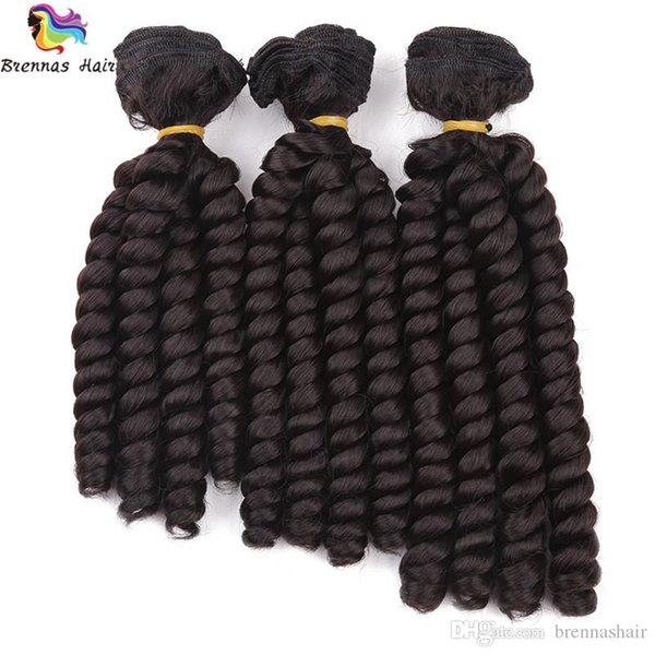NEW synthetic 8-10inch fumi hair Spring curl twist braid hair weft Weave Sew in Hair Extensions Bundles 3pcs/pack ombre for black woman