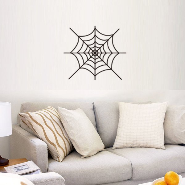 European and American Style Spider's Web Wall Stickers Waterproof PVC Arts Murals Can Be Removable Wallpapers Sitting Room Bedroom Decor