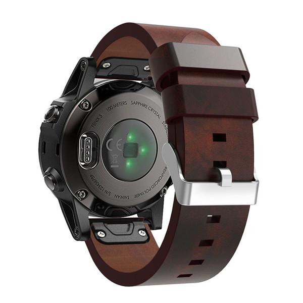 2018 Bracelet de montre de luxe avec bracelet en cuir avec outils pour Garmin Fenix 5 Montre GPS avec outil pratique # 0126
