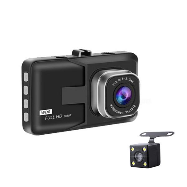 Sıcak satış 3.0 inç LCD Dash Kamera Video Araba DVR Kaydedici Tam 1080 P HD G-Sensor 32 GB Hareket Dedektörü Döngüsü Kayıt 170 derece