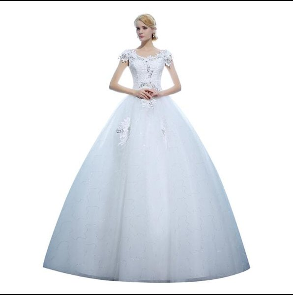 New Arrival Lace Wedding Dresses Strapless Tulle Appliques Bridal Gowns Vestidos de Novia
