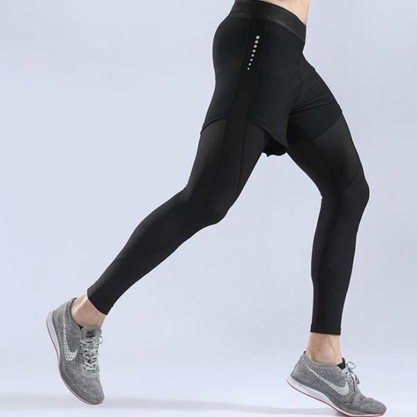 Pantalones de compresión para hombre Pantalones deportivos Mallas para correr Baloncesto Gimnasio Culturismo Jogging Gimnasio Leggings pitillos Pantalones con pantalones cortos
