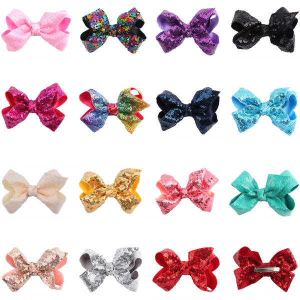 24pcs Regenbogen Jojo Bögen für Mädchen Mix Farben Haarbögen für Kinder 2018 Trendy Kids Haarschmuck Geburtstagsparty Dressing Up DIY-Kit