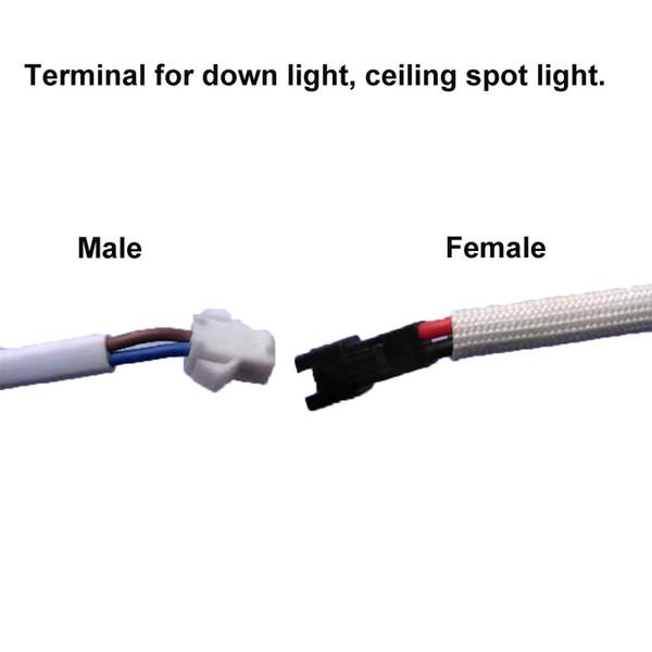 Para el terminal de la luz hacia abajo