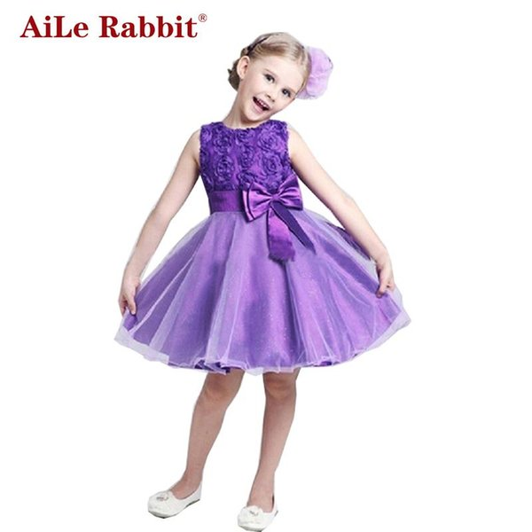 Aile Rabbit Princess Flower Girl Dress Summer Tutu Wedding Compleanno Party Abiti per ragazze Costume per bambini Adolescente