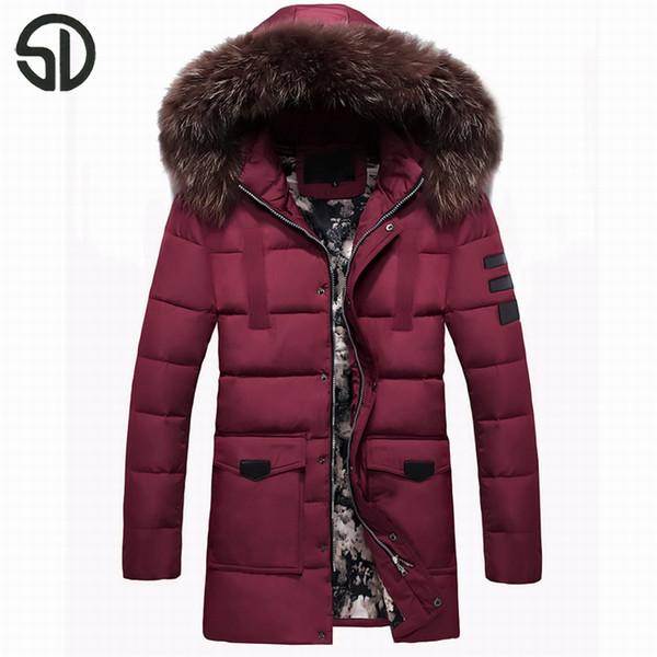 Bequeme Verkäufe Mantel Männliche Großhandel Männer Warme Einfarbig Mit Beliebte Größe Asiatische Heiße Kapuze Winterjacke Lange NP0Ow8nkX