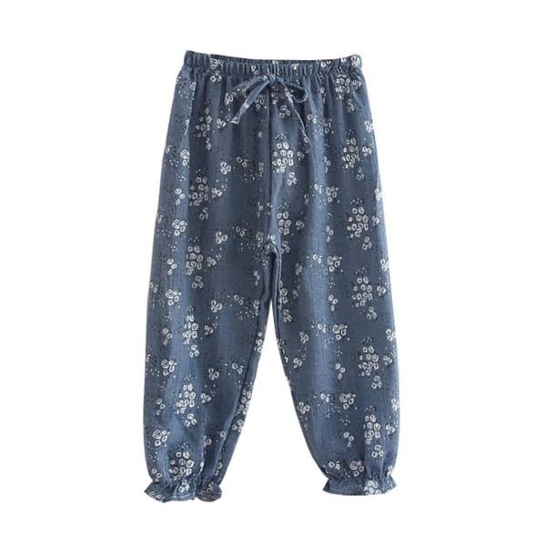 Baby Girls Boho Pants Children Cartoon Whale 100% Cotton Pants Trousers Kids Loose Trousers