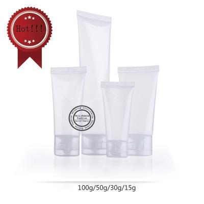 Бесплатная доставка, 50 шт. / Лот, 100 г Глянцевый прозрачный шланг, пластиковые бутылочки, пластиковые бутылки, многоразовые бутылки
