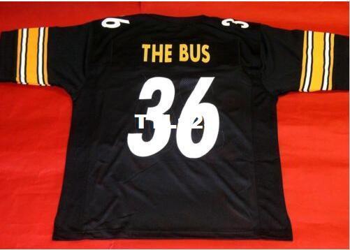 Homens CUSTOM BLACK THE BUS Colégio Jersey tamanho s-4XL ou personalizado qualquer nome ou número Colégio jersey