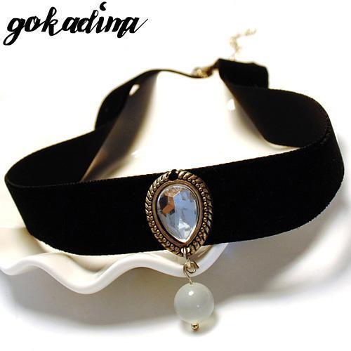 Wholesale- Gokadima collar necklace 2017 vintage Handmade Retro statement women Short Steampunk choker necklace Girl Lolita Gothic jewelry