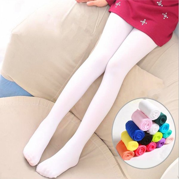 Children Velvet Leggings Dance Pants Socks 12 Color Kids Girls Thin High Elasticity Ballet Bottom Socks Wholesale Free Shipping B0220