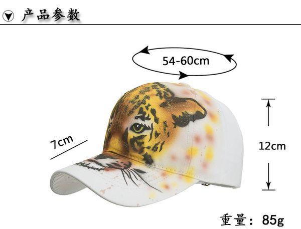 Satın Al Pamuk Boyama Kap Beyzbol Kapaklar Snapback şapka Leopar