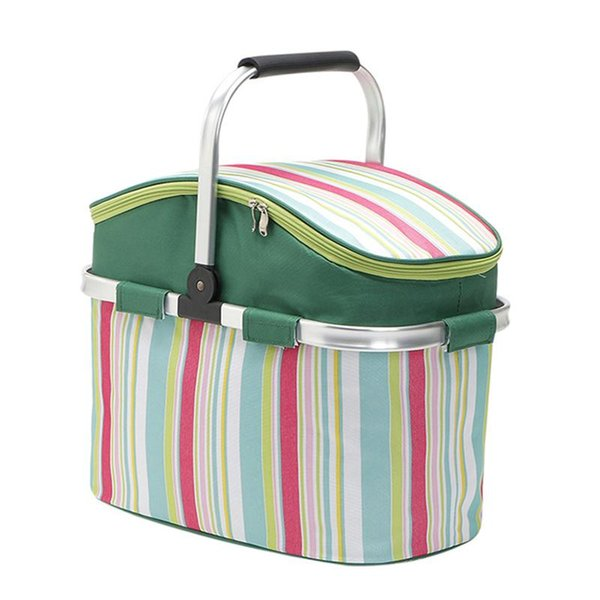 26L Picnic Bag Insulated Lunch Tote Picnic Backpack Basket for Camping Gathering Kayak Hiking