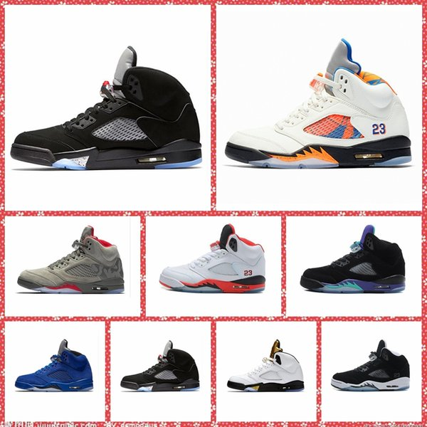 OG Black Metallic mens sports shoes 5 V white Cement Grapes luxury Designer Sneakers Olympic Metallic Gold 5s men basketball shoes Trainers