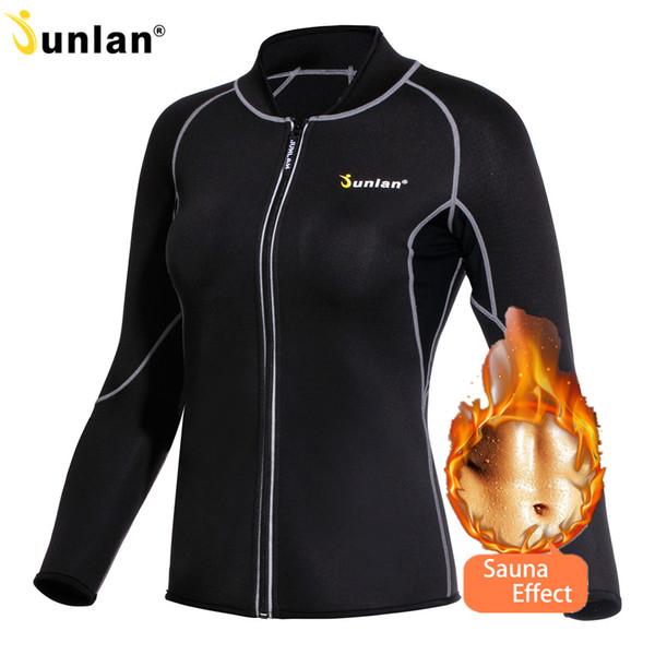 wholesale Women Sauna Suit Long Sleeve Neoprene Body Control Shapewear Slimming Hot Shapers Sweat Workout Bodysuit Reducing Vest