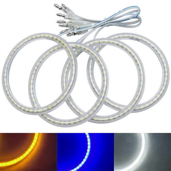 4 Adet / takım Oto SMD Melek Gözler Işık Halo Halka Lada VAZ 2110/2112 Far Lambası # 1251