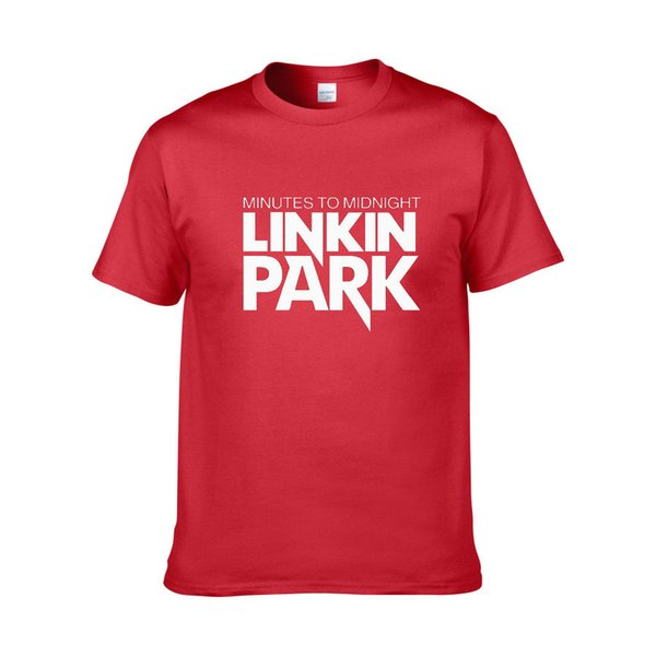 Linkin Park Brief Druck Sommer Männer und Frauen Rundhals Baumwolle Kurzarm-T-Shirt Größe plus Größe