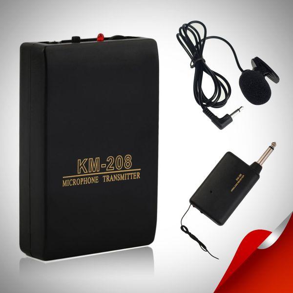 Wireless FM Transmitter Empfänger Revers Clip On Mikrofon System Set Pro Empfänger + Sender + Mic Kits Mayitr
