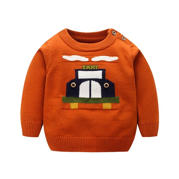 063590b3d Autumn Winter Toddler Sweaters Pullovers Baby Boys Warm Cotton ...