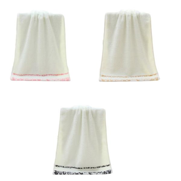 1Pcs! Di alta qualità 34 * 75 centimetri morbidi regali di nozze in puro cotone faccia mano capelli bagno asciugamano da spiaggia telo da spiaggia casa pulizia uso domestico