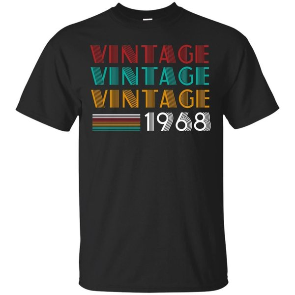 Retro Classic Vintage Born In 1968 - 50th T- Shirt Best Gift For 50 Years Old summer Hot Sale New Tee Print Men T-Shirt Top 100% cotton