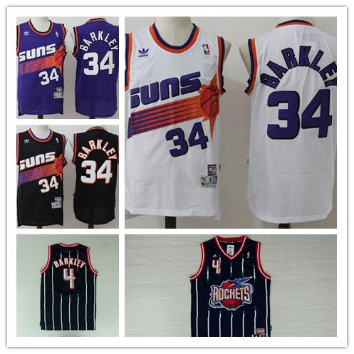 low priced 37dc5 7f566 2018 Retro Mens 34 Charles Barkley Phoenix Jersey Suns Basketball Jerseys  Authentic Stitched Classic Suns Charles Barkley Retro Basketball Jersey  From ...