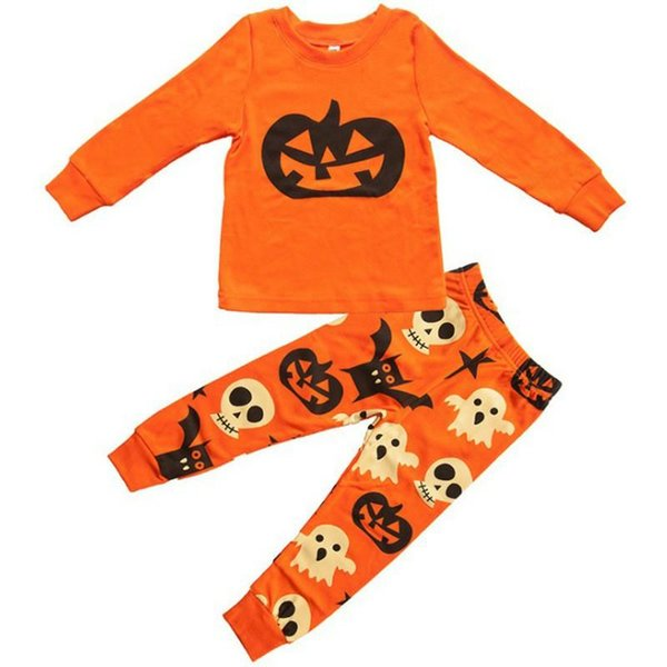 Baby Girls Boys Clothing Sets Autumn Toddler Pajamas Suit Pumpkin Halloween Costume Children Pjs Sets Kids Clothing