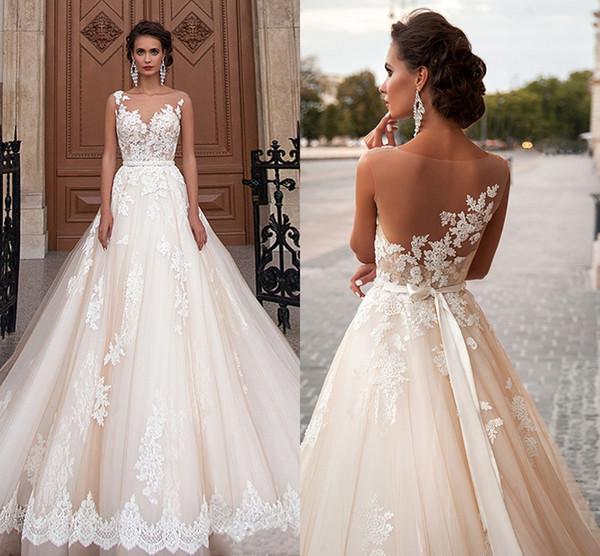 Vintage Arabic Princess Milla Nova Wedding Dresses Lace Turkey Women Country Western Bridal Gowns Pearls Sash Tulle HY4145