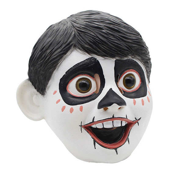 Hanzi_masks Newest Funny Movie Anime CoCo Miguel Cosplay Full Head Latex Mask Fancy Ball Helmet Costume Props Masks